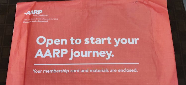 AARP package envelope