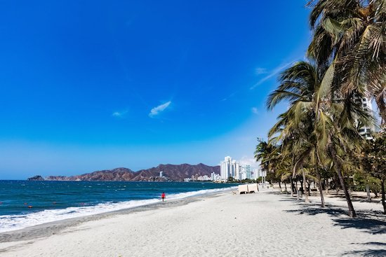 Rodadero beach Santa Marta Magdalena in Colombia South America