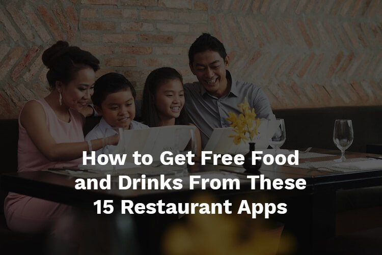 Free food from restaurant apps
