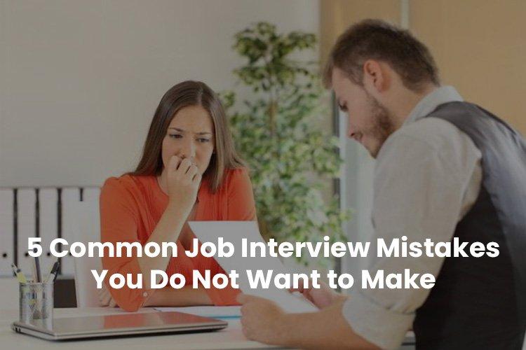 common job interview mistakes