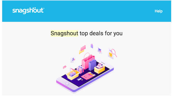 Snagshout email deals