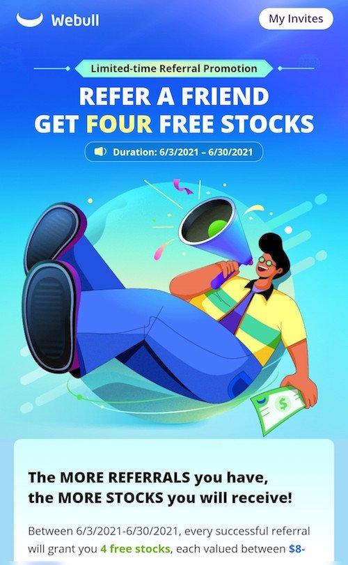 Webull 4 free stocks