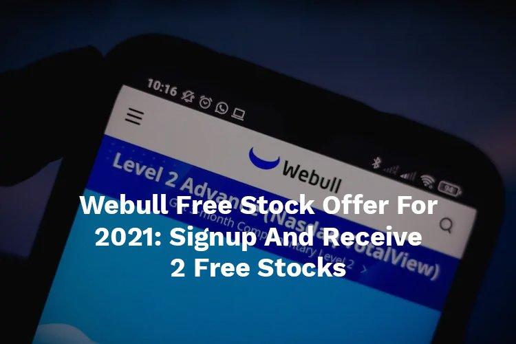 webull free stock