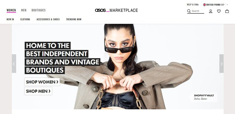 Asos Marketplace best online thrift stores