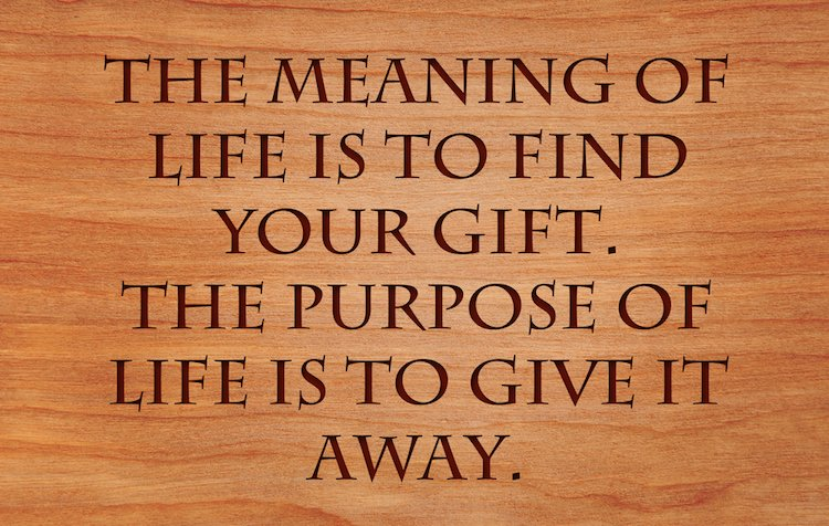 finding your purpose quote